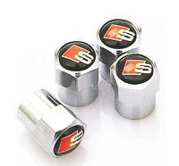 Set aus 4 Ventilkappen S Line - Chrom - Metall - Performance - SLine