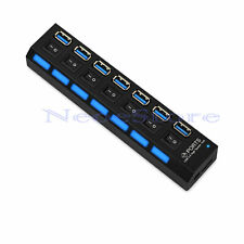 7 porte USB 3.0 HUB adattatore cavo con 7 interruttori individuali per PC Laptop MAC