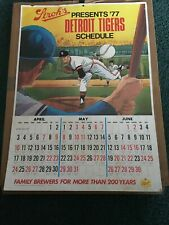 1977 Stroh's Beer Detroit Tigers large schedule placard sign, 18 X 25, 2-sided