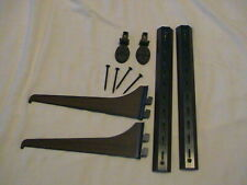 """Set Of 2 Shelf Brackets & Arms 11"""" Long 2 Finials & 4 Screws, Use Your Own Wood!"""