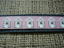 Glastonbury Camper Van or Beach Huts Dog Collar and Lead Sets by Floral Pooch