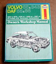 VOLVO 66, 343 & DAF 55, 66 Haynes Workshop Manual, Saloon Coupe Estate Marathon