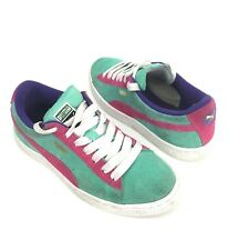 c6cdbd5ab50c79 Puma Sports Lifestyle Women s Pink And Green Suede Sneakers   Shoes Size 6