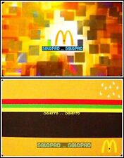 2x McDONALD 2013 GOLDEN ARCH SHINY 2011 CHEESEBURGER COLLECTIBLE GIFT CARD LOT