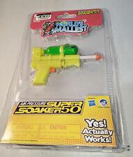 WORLD'S SMALLEST Nerf Super Soaker Barrage Water Gun It Works! Green/Yellow NEW