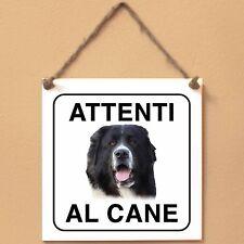 Bucovina 1 Attenti al cane Targa piastrella cartello
