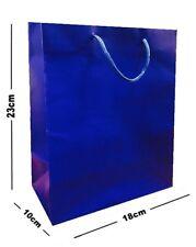 15 x Blu Opaco laminato FESTA Sacchetti regalo ~ LUSSO DI COMPLEANNO BORSA MEDIA