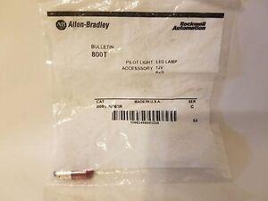 Allen Bradley A-B 800T-N362R Rouge 12V AC / Dc LED Pilote Lampe 800TN362R