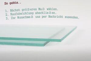 Glasplatte Zuschnitt auf Wunschmaß Glasboden Glastisch Glasscheibe Floatglas