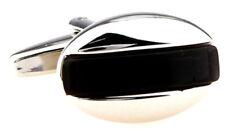 Cufflinks.Direct Classical & Stylish Hard Wearing Black Onyx Inspired Cufflinks