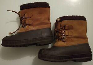 Sorel womens Snow Badger Leather boots Size 3  Colour Tan/Black