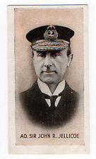 Rare Original UK Trade Card Edmondson War Series Admiral Sir John R Jellicoe