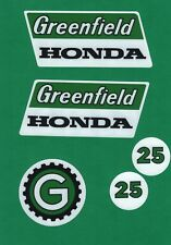 Greenfield 1970s Vintage Ride-on Mower Repro Decals