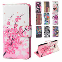 For Samsung Galaxy Phones Case,Flip Flower Stand Leather Wallet Card Hard Cover