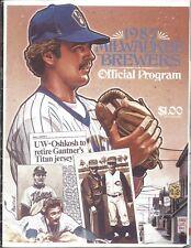 1985 Baseball Program Milwaukee Brewers Toronto Blue Jays scored, Jays win 5-1