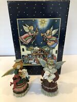 Lang and Wise Collectibles Noel Angels Set of 2 #96500101 Angels & Nativities
