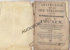 BRABANT 1663 Instructie op de hertellingen of vernieuwingen vd Tauxen   (N871)