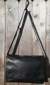 Coach Men's Sullivan Black Pebbled Leather Large Messenger Bag F71726