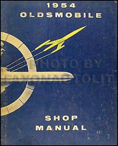 1954 Olds ORIGNAL Shop Manual 88 98 Super 88 OEM Repair Service Book Oldsmobile