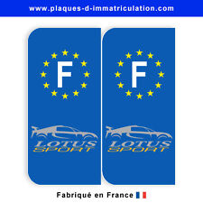 Sticker plaque lotus sport F (jeu de 2 stickers)