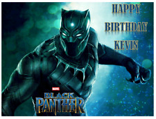 BLACK PANTHER Cake topper Personalized Birthday 1/4 Sheet  Edible Image