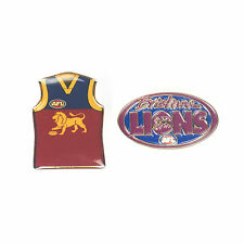 Brisbane Lions Official AFL Team Logo & Guernsey Collectors Pin Badge