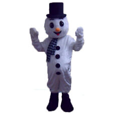 Christmas Snowman Mascot Costume Cartoon Character Cosplay Adult Unisex Dress us