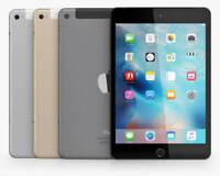 Apple iPad Mini 4 | 16/32/64/128GB | 7.9 in WiFi+Cellular | iPADOS 13 Unlocked