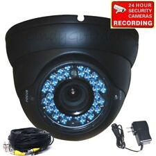 Security Camera CCD 36 IR LEDs Outdoor Day Night Vision 4-9mm w/ Cable Power A45