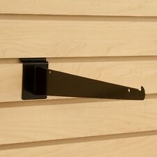 Black Slatwall Shelf Knife Brackets With Lip Lot Of 25 New Multiple Sizes