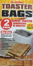 2 x Reusable Toaster Sandwich Toast Bags Pockets Toasty Fish Nuggets Pizza Fries
