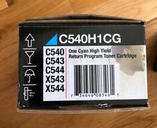Lexmark C540H1CG Cyan High Yield Toner Cartridge