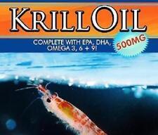 Krill Oil Pills EPA DHA Oemga 3 6 + 9 Joint Muscle Pain Arthritis Immune System