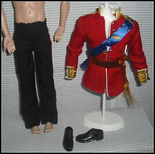 OUTFIT ONLY KEN DOLL MATTEL ROYAL WEDDING PRINCE WILLIAM MILITARY UNIFORM GROOM