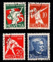 Suisse 1932 Mi. 262-265 Oblitéré 100% Pro Juventute, Huber