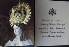 ANTIGUA ESTAMPA HOLY CARD NUESTRA SEÑORA DE LA ASUNCION PATRONA DE ESTEPA CC1605