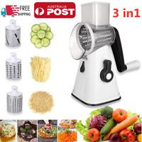 3in1 Multi-function Easy Food Vegetable Manual Rotary Drum Grater Chopper Slicer