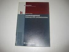 Lernmanagement von Dietrich Pukas  , 1. Aufl. 2003