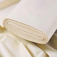 """108"""" WIDE EDMUND BELL Best Curtain Lining Quality cotton Twill Ivory 50 Mtrs"""