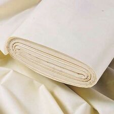 """108"""" Extra Wide Double Width Quality Cotton Twill Curtain Lining Free  P&P"""