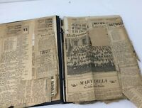Vintage 1930's scrapbook newspaper article Old  Hollywood Actress Marillah Olney