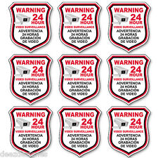 SECURITY CAMERA Video English Spanish Warning Decal Sticker 5 inch wide decals
