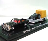 1:64 1980 WB UTE WITH TRAILER, HAY AND FERGIE TRACTOR - BRAND NEW!