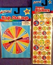 New Art Skills! Bingo Challenge 105 pieces & 400 sticker chips, Home Travel set