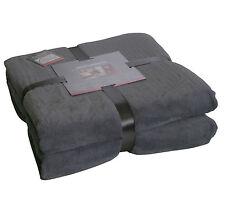 Decke MircofaserSuper-Flausch 150x200 cm Kuscheldecke Wohndecke antra/grau
