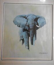 DAVID SHEPHERD **AFRICAN BULL ELEPHANT**~ SIGNED LIMITED EDITION  PRINT.