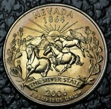 """2006 P USA STATE  QUARTER - """"NEVADA 1864 THE SILVER STATE"""" - BEAUTIFULLY TONED"""
