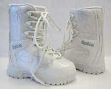 Spice Supreme Junior/Girls Snowboard Boots (White) (Lace Up) + Burton Sticker