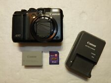 Canon Black PowerShot G10 14.7MP Digital Camera w/ Battery, Charger, & SD card