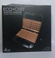 Eco + Chef Copper Series Ceramic Nonstick Waffle Maker NIB